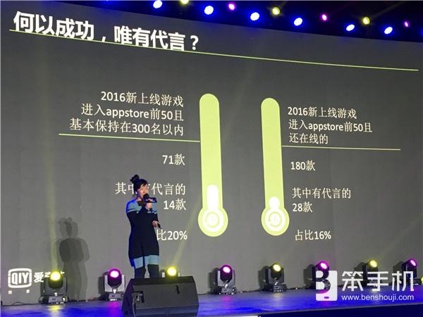 爱奇艺王世颖:排行榜数据看2016手游江湖