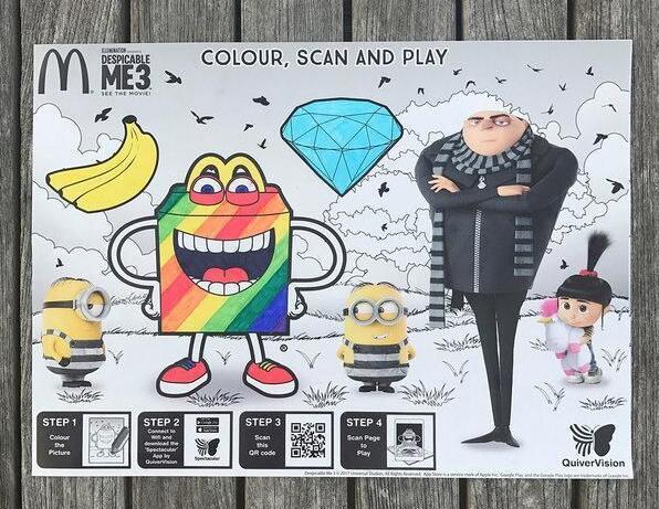 麦当劳推出AR托盘垫纸,发起新西兰最大的AR涂色活动