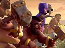 皇室战争趣味视频之戈仑石人与冰人对打