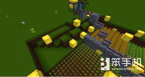 我的世界便捷红石机器 农场一键收割装置