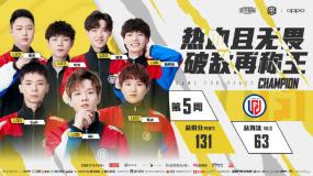 《和平精英》LGD战队强势登顶PEL 2021 S1第五周周冠军!