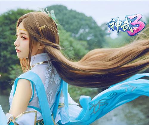 《神武3》凌霜月叶青峰唯美COS 共赏落樱如梦爱恋